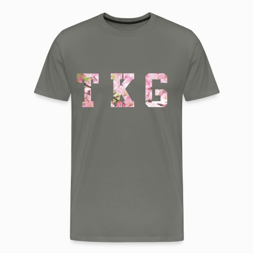 TKG Floral Tee Asphalt - Men's Premium T-Shirt