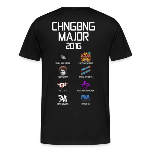 Chang Bang Major 2016 - 8 Major Teams  - Men's Premium T-Shirt