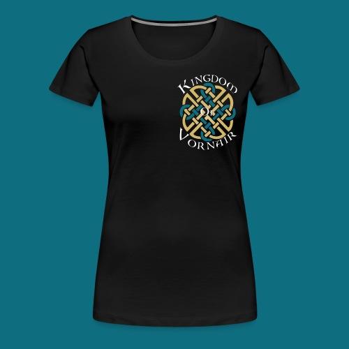 Women's Kingdom of Vornair Shirt - Small Logo w/ Slogan - Women's Premium T-Shirt