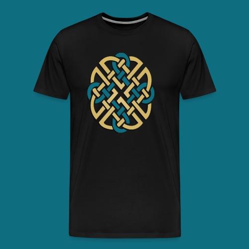 Men's Kingdom of Vornair Shirt - Large Knot w/ Slogan - Men's Premium T-Shirt