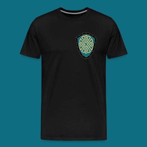 Men's Kingdom of Vornair Shirt - Small Shield w/ Slogan - Men's Premium T-Shirt