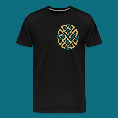 Men's Kingdom of Vornair Shirt - Small Knot w/ Slogan - Men's Premium T-Shirt