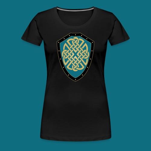 Women's Kingdom of Vornair Shirt - Large Shield w/ Slogan - Women's Premium T-Shirt