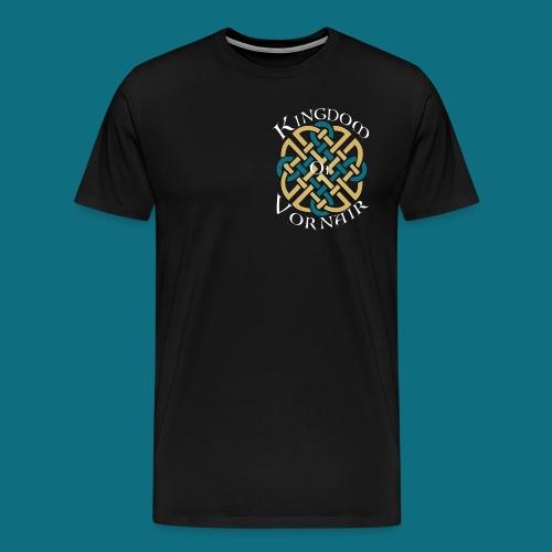 Men's Kingdom of Vornair Shirt - Small Logo w/ Slogan - Men's Premium T-Shirt