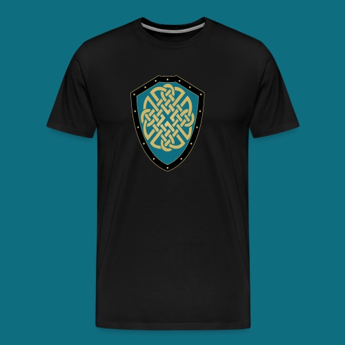 Men's Kingdom of Vornair Shirt - Large Shield w/ Slogan - Men's Premium T-Shirt