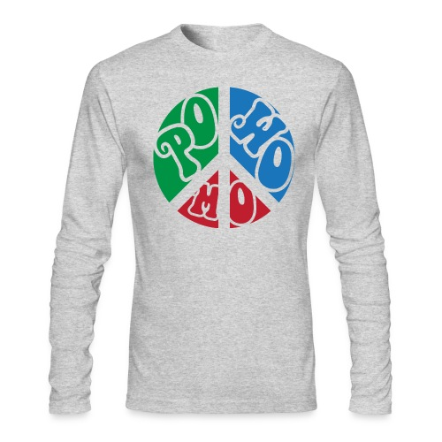 powomo peace sign long sleeve T shirt - Men's Long Sleeve T-Shirt by Next Level