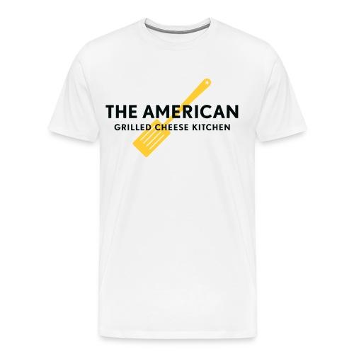 TAGCK - Yellow Spatula logo - White - Men's Premium T-Shirt