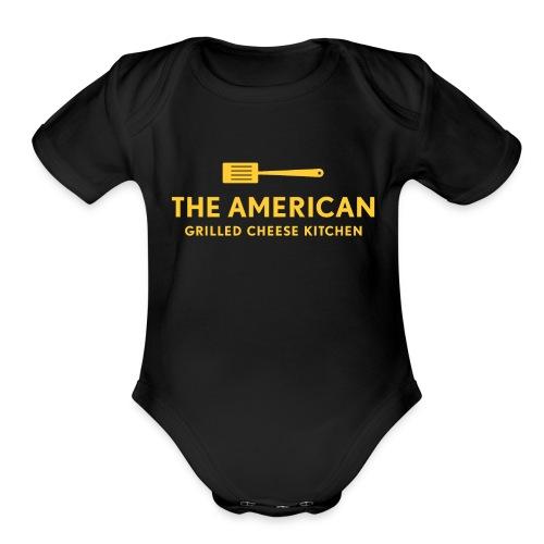 TAGCK Logo Baby   - Organic Short Sleeve Baby Bodysuit
