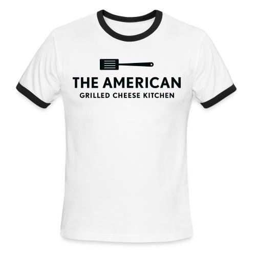 TAGCK Ringer Shirt-White/Black - Men's Ringer T-Shirt