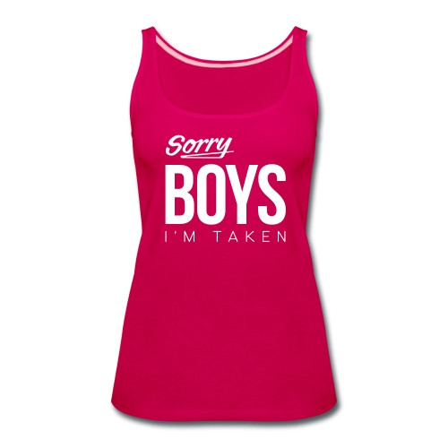 Sorry Boys - Women's Premium Tank Top