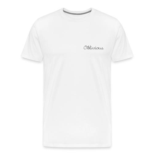 oblivious cursive  - Men's Premium T-Shirt