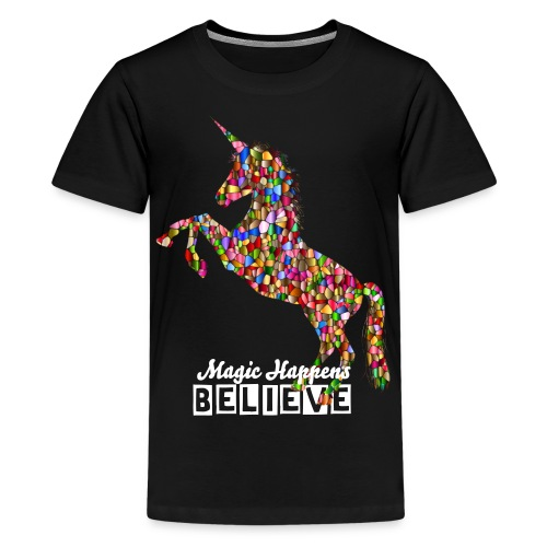Kid's Unicorn T shirt With Text - Kids' Premium T-Shirt