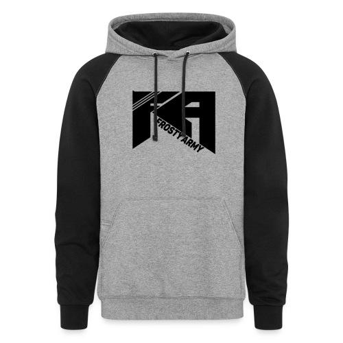 Mens Black ColorBlock Frosty Army Hoodie - Colorblock Hoodie