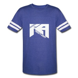 Mens Blue/White Frosty Army Sports T-Shirt - Vintage Sport T-Shirt
