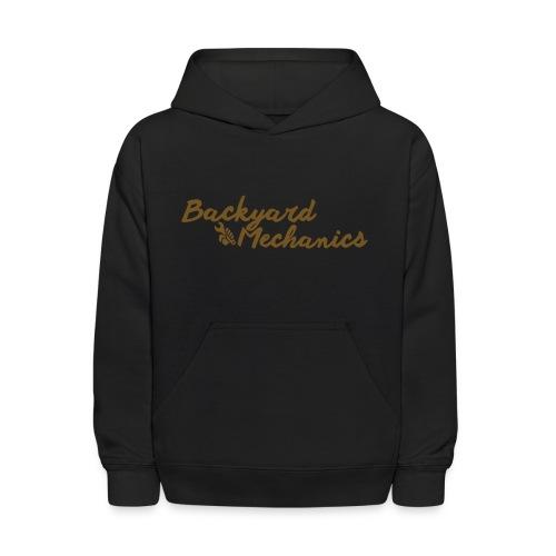 kids hoodie cursive gold - Kids' Hoodie