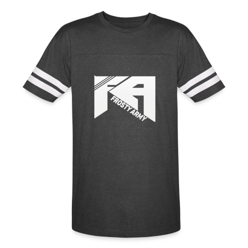 Mens Black/White Frosty Army Sports T-Shirt - Vintage Sport T-Shirt