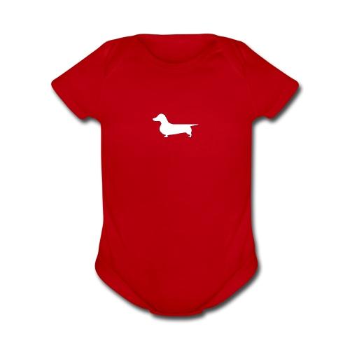 Dachshund Baby - Organic Short Sleeve Baby Bodysuit