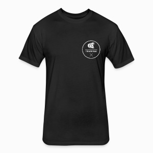 Kaos Abstract Logo Tee Black  - Fitted Cotton/Poly T-Shirt by Next Level