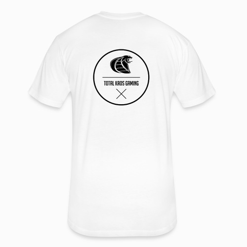 Kaos Abstract Logo Tee White w/ Avatar - Fitted Cotton/Poly T-Shirt by Next Level