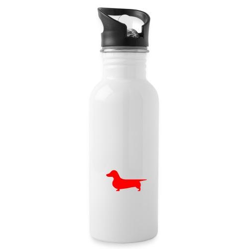 Dachshund Bottle white - Water Bottle