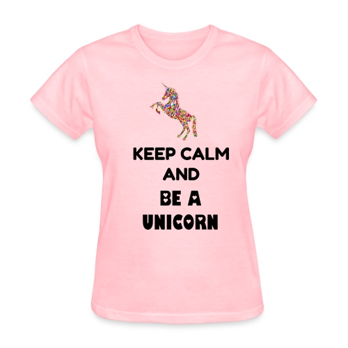 Women's Be A Unicorn T Shirt Back Text - Women's T-Shirt