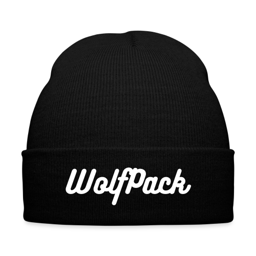 WolfPack Knit Cap - Knit Cap with Cuff Print