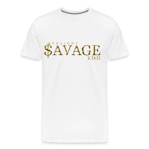 Straight $avage (Y.O.G) - Men's Premium T-Shirt