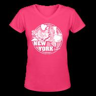 T-Shirts ~ Women's V-Neck T-Shirt ~ I NEW YORK LOVE