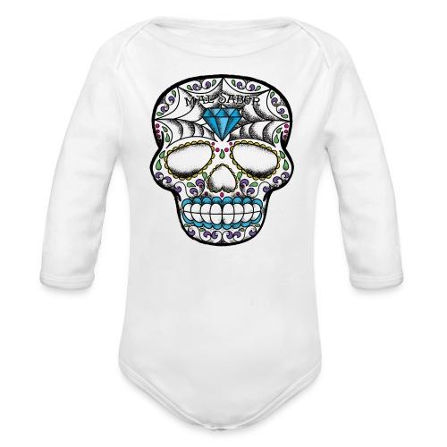 Calavera Tattoo Design  - Organic Long Sleeve Baby Bodysuit