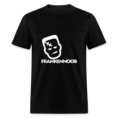 FrankenNoob White Logo - Men's T-Shirt