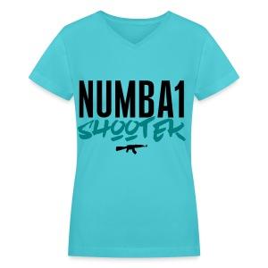 #1 - Women's V-Neck T-Shirt