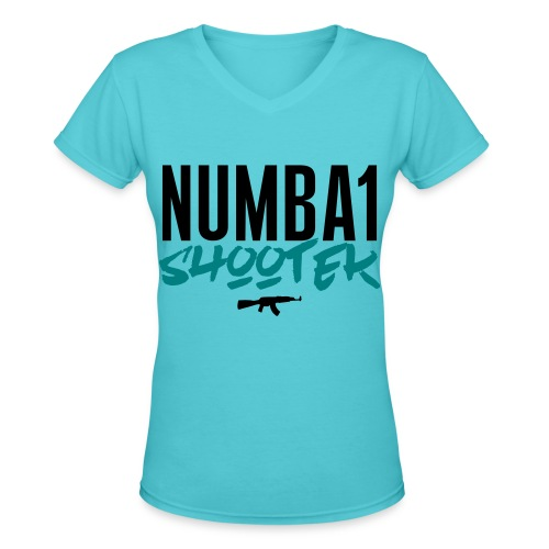 #1 - Women's V-Neck T-Shirt