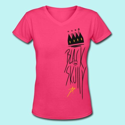 Bare-Bones Crowns & Stars  - Women's V-Neck T-Shirt