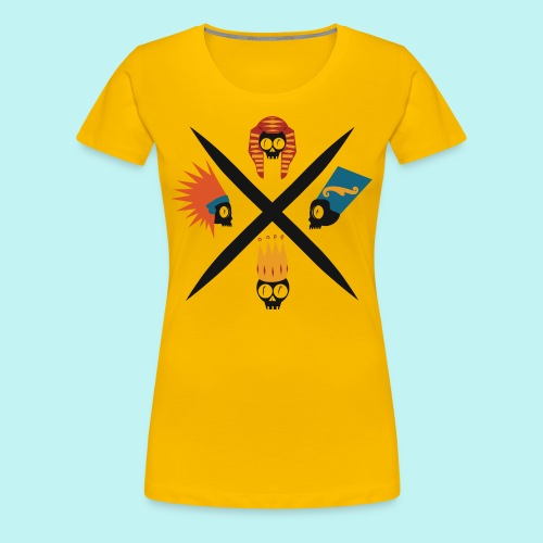 Bare-Bones Royal Flush - Women's Premium T-Shirt