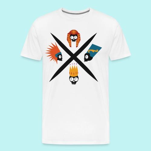 Bare-Bones Royal Flush - Men's Premium T-Shirt