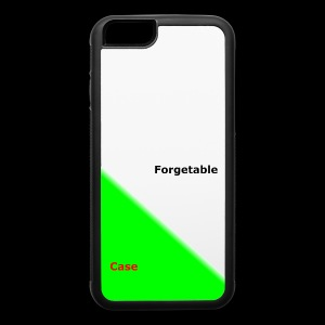the forgetable iphone 6s case - iPhone 6/6s Rubber Case