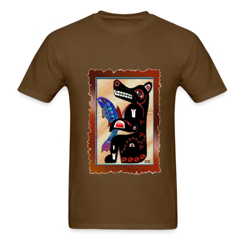 Haida Bear & Salmon - Front - Men's T-Shirt