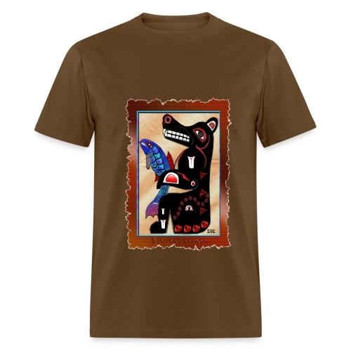 Haida Bear & Salmon - Front - Men's T-Shirt