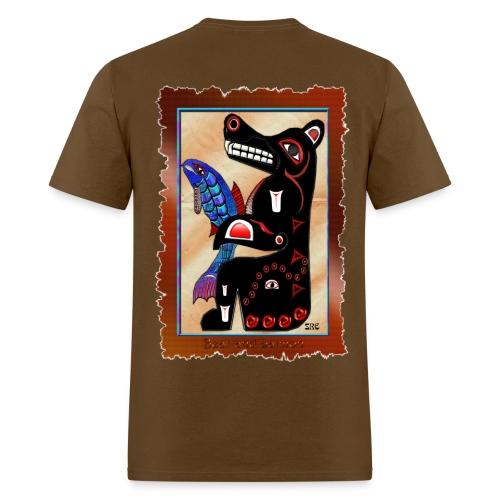 Haida Bear & Salmon - Back - Men's T-Shirt