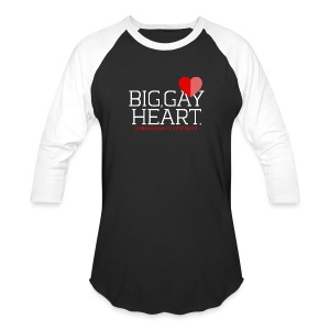 "Big Gay Heart"" Two-toned Shirt - Baseball T-Shirt"