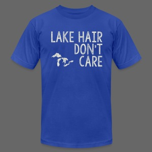 Lake Hair Don't Care - Men's T-Shirt by American Apparel