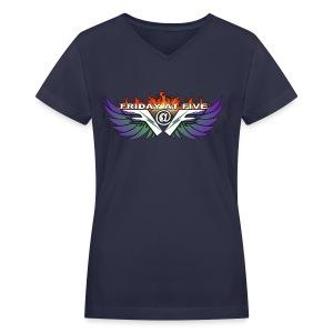 Friday At Five Logo Womans V-Neck Tee - Women's V-Neck T-Shirt