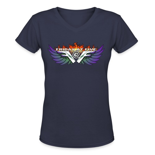Friday At Five Logo Womans V-Neck Tee - Women's V-Neck T-Shirt