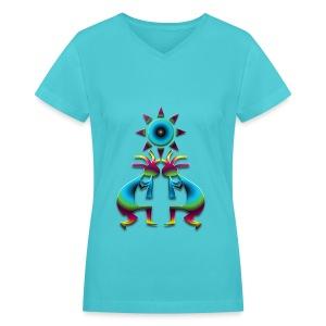 2 Kokopelli #41 - Women's V-Neck T-Shirt