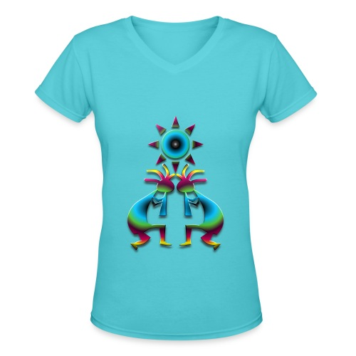 2 Kokopelli #41 - Women's V-Neck T-Shirt