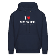 Hoodies ~ Men's Hoodie ~ I Love My Wife 's Sandwich Making Skills