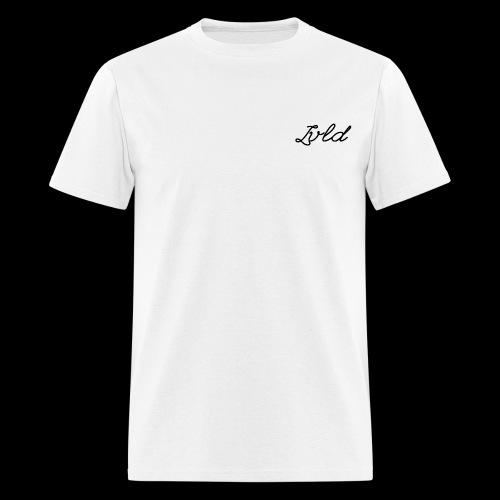 Lvld Brand Plain T - White w/ Black Logo - Men's T-Shirt