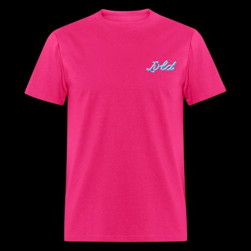 Lvld Brand Plain T - Pink w/ Blue Layered Logo - Men's T-Shirt