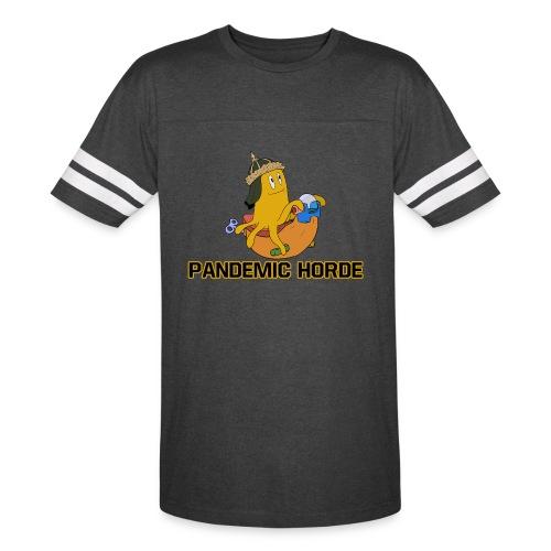 Pandemic Horde Logo - Ringer Jersey Tee - Vintage Sport T-Shirt