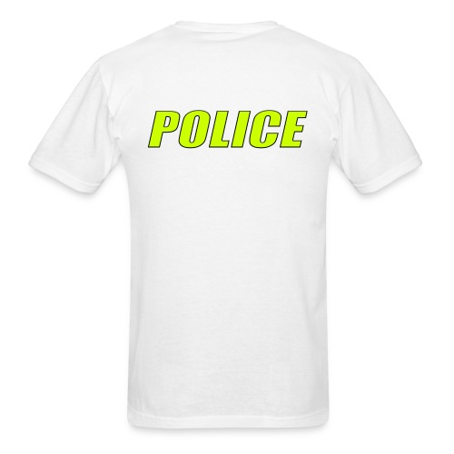 Police High-Vis on White - Men's T-Shirt